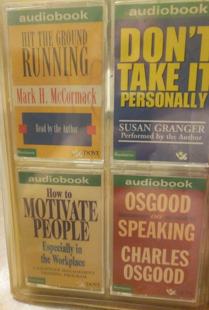 4 cassette audiobook business succsss training  Mark H Mc Cormack Charles Osgood