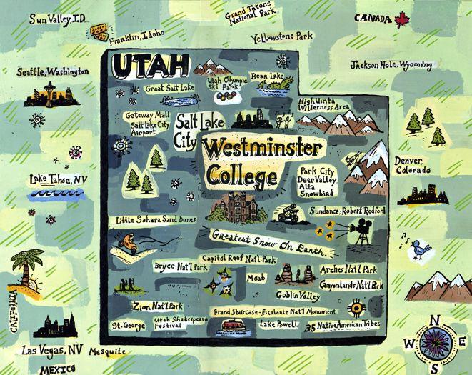westminster college map, Utah - Gina Triplett
