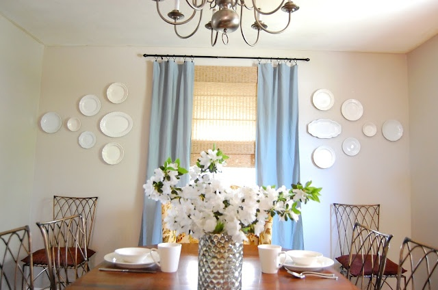 Tutorial for hanging plates on the wall sylla for What to hang on dining room walls