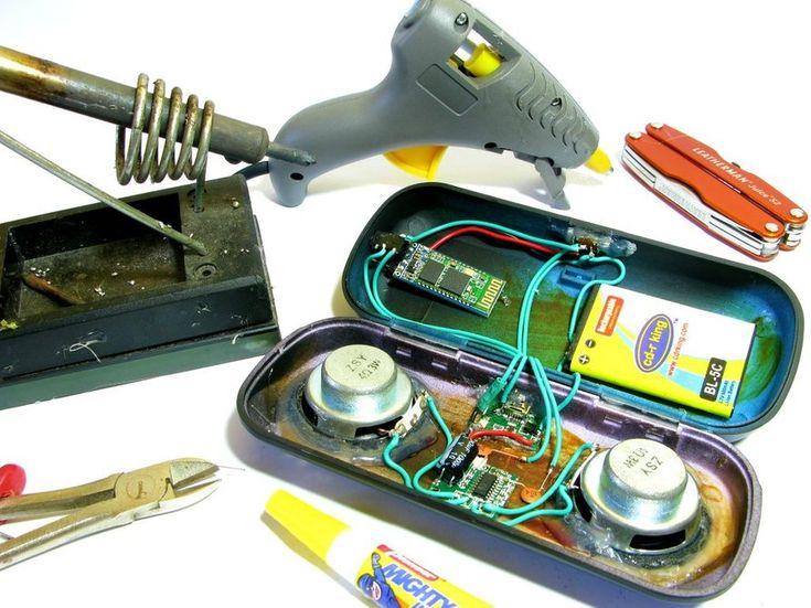 DIY Bluetooth Speaker   Diy bluetooth speaker, Wireless ...