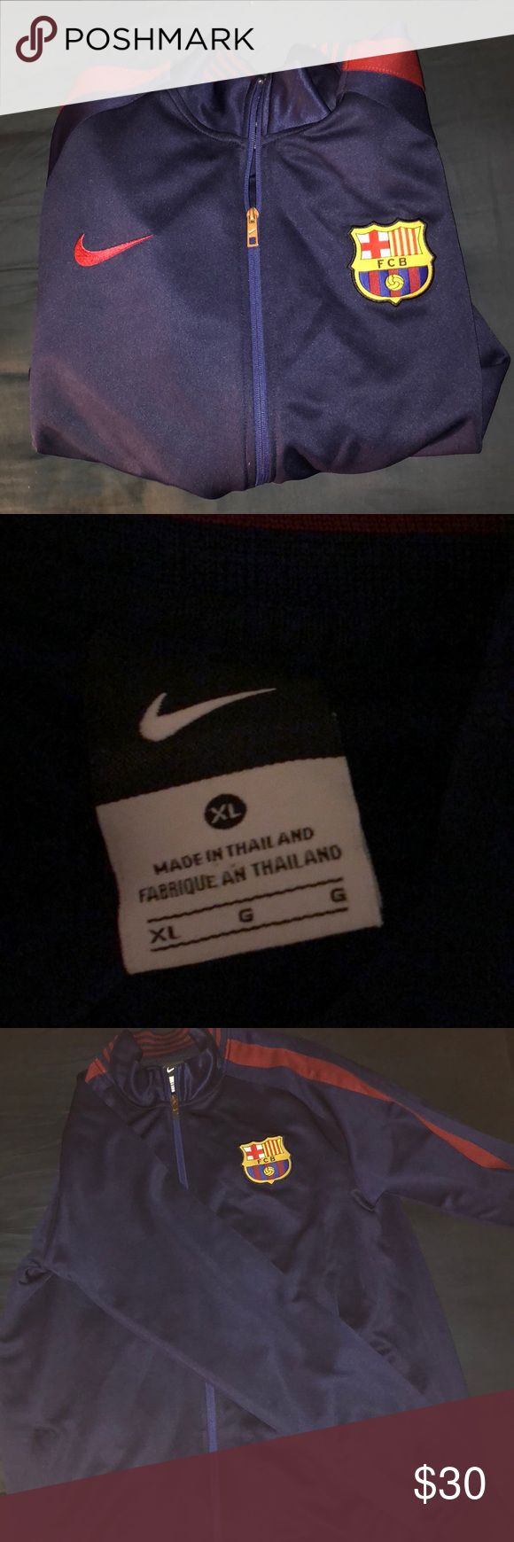 FC Barcelona jacket Fc Barcelona jacket, good condition. Jackets & Coats Performance Jackets