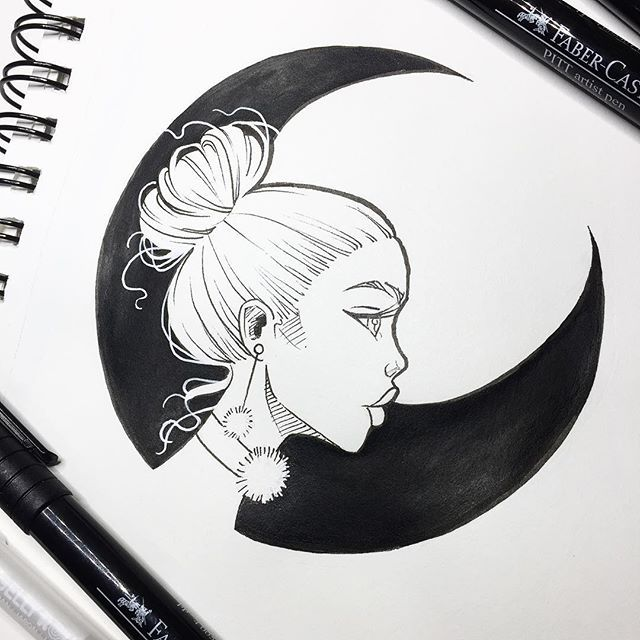a alma da lua sketches in 2018 pinterest drawings sketches and art