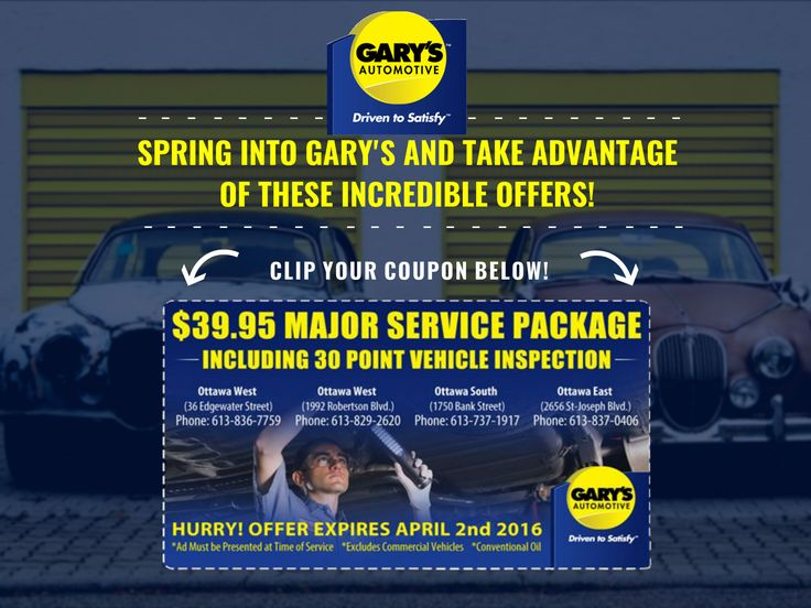 Don't forget about our spring promotion on now! #garysautomotive #ottawa