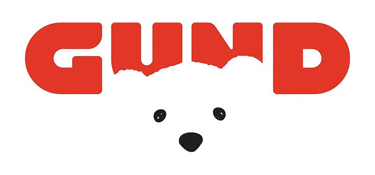 Gund logo ^ designer: Fred Pirlot | creative director: C. J. Yeh | art director: Christie Shin | design firm: Cynda Media Lab. Gund logo and rebranding among winners of the 57th annual Communication Arts design competition. http://lightningreleases.com/redesigned-gund-logo-selected-as-design-competition-winner/