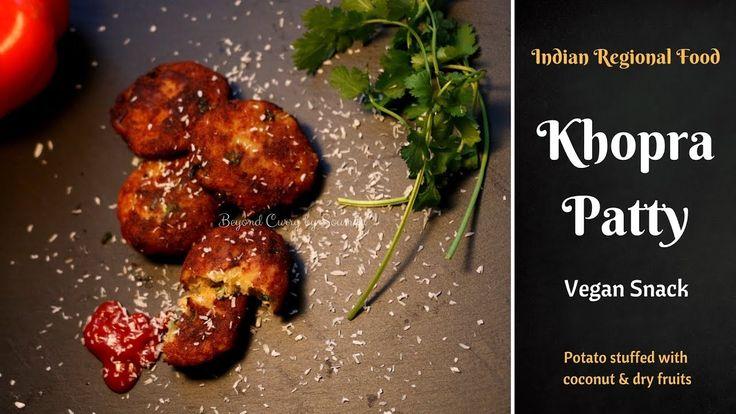 Indori Khopra Patties Recipe | Potato Coconut Patties | Indori  Aloo Pat...