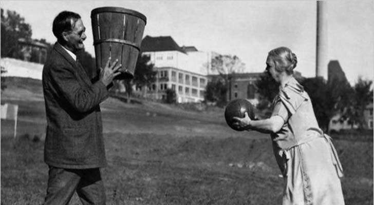 The inventor of basketball, James Naismith and his wife.