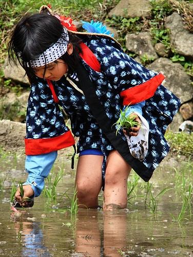 Rice Planting Maiden http://ojisanjake.blogspot.com/2010/05/rice-planting-maidens-saotome.html