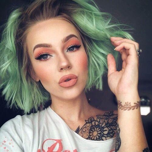 Rainbow Hair Colour, itsfashioonmakeup:     ♡...