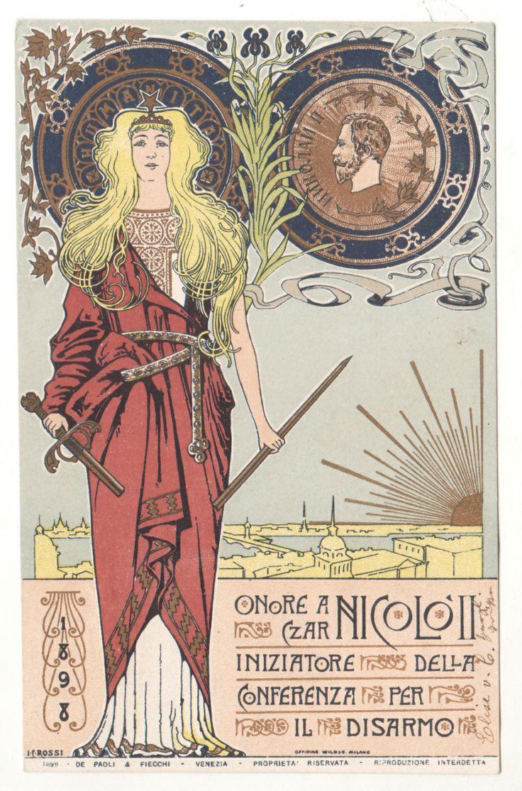 www.italialiberty.it   C.Rossi - 1898 Onore a Zar Nicola II iniziatore della Conferenza per il Disarmo