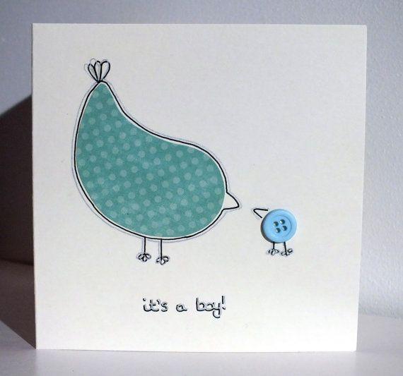 It's A Boy Its a New Baby Boy Card Handmade by FuzzyIrishCrafts, €3.00 - etsy
