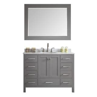 Shop for Eviva Aberdeen Transitional Grey 42-inch Bathroom Vanity With White Carrara Countertop. Get free delivery at Overstock.com - Your Online Furniture Outlet Store! Get 5% in rewards with Club O! - 23816111