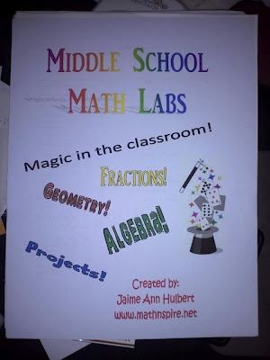 Middle School Math activities students complete notes for homework