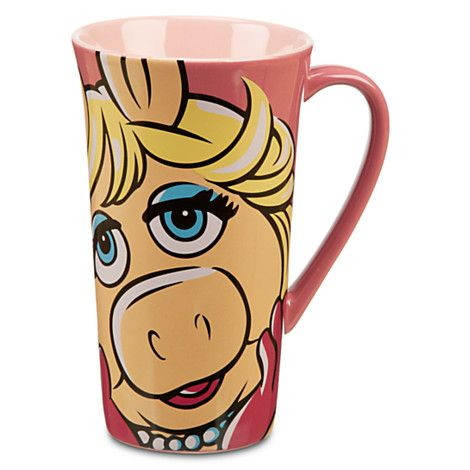 To give your morning a karate-chopping kick start, fill Miss Piggy with #coffee. MISS PIGGY #MUPPETS COFFEE MUG #Disney