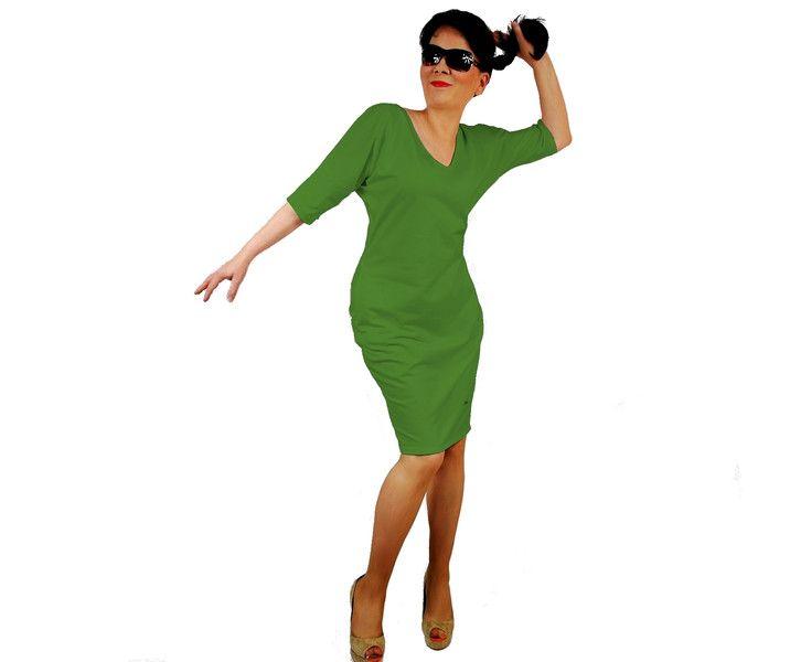 rozmiary 38-50 GRACJA - UROCZA SUKIENKA Z BAWEŁNY - cottonsunrise - Sukienki