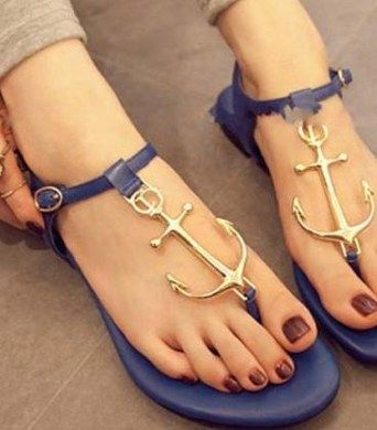 Stylish anchor sandals. One of the most famous sandals on web.