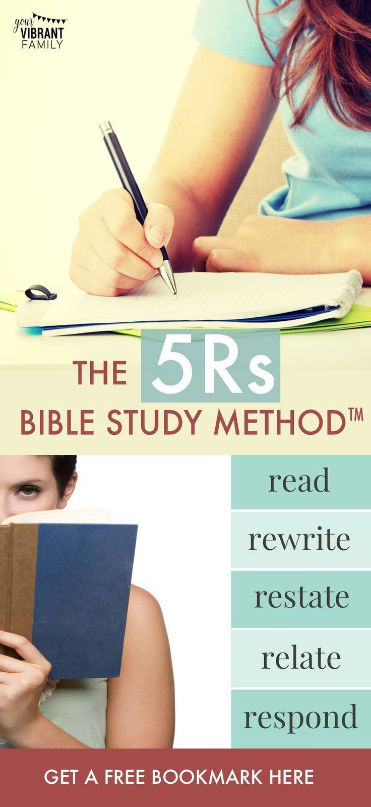 Want free bible study lessons? The 5Rs Bible Method teaches anyone how to study the bible effectively. This simple Bible study method is perfect for Bible study lessons for women! Grow spiritually and learn the best way to study the Bible! Plus get a free Bible study bookmark!