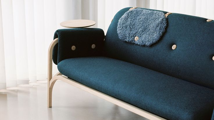 Swedish studio Front designed the customisable Button sofa to be as suitable for aged-care environments as it is for the home of a young person.