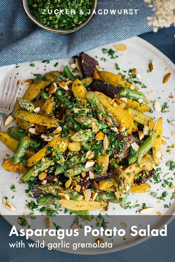 Asparagus And Potato Salad With Wild Garlic Gremolata