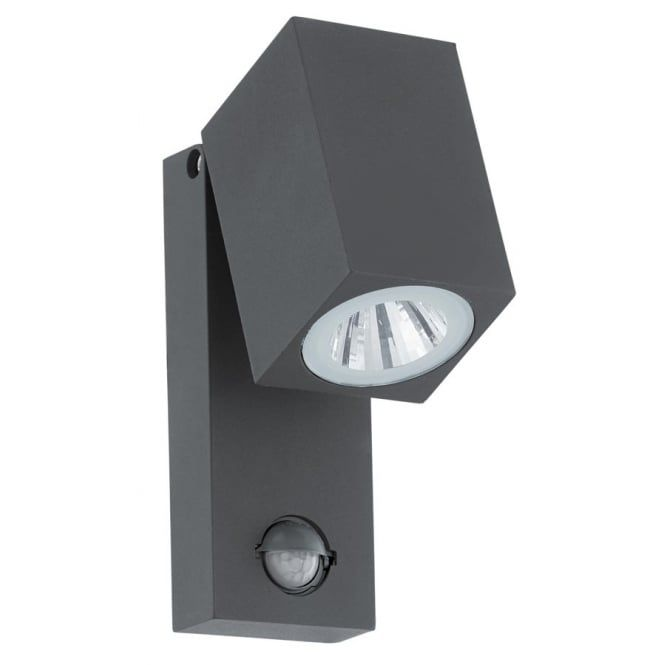 Eglo SAKEDA Outdoor Rectangular Wall Light (Sensor)  Finish & Colour: Cast Aluminium, Anthracite Light Bulb Type: LED 1X5W (Bulb(s) included) Length: 70mm Height: 170mm Extension: 100mm IP Rating: IP44 Fitted with a Movement Sensor Here we have the SAKEDA Outdoor Rectangular Wall Light from the new Eglo range. A strong LED Outdoor Wall Light with build in motion sensor and a Cast Aluminium finish to it.  #ideas4lighting #clanyrelighting #pendants #tablelamps #art #design #floorlamps #eglo…