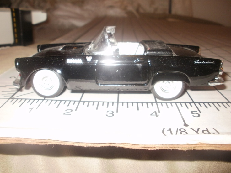 "Since we will be in a classic 1955 T-Bird, we will have this 1:32 replica. The problem is the size. Traditional wedding figurines are about 4"" tall! I am working on ideas to ""make"" the wedding couple to fit in the car for the wedding sheet cake."