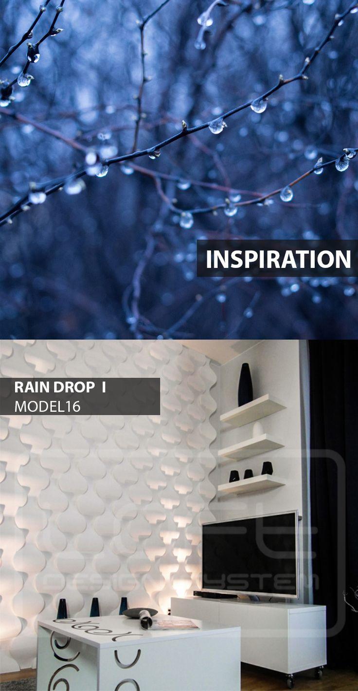 Rain Drop - model 16 - Inspiration. Click at the photo to get more information or to visit our website. #LoftDesignSystem #loftsystem #Decorativepanels #Inspiration #Interior #Design #wallpanels #3Ddecorativepanels #3dpanels #3dwallpanels #house #home #homedesign #Decorations #homedecorations #meringue #bedroom #salon #livingroom #raindrops