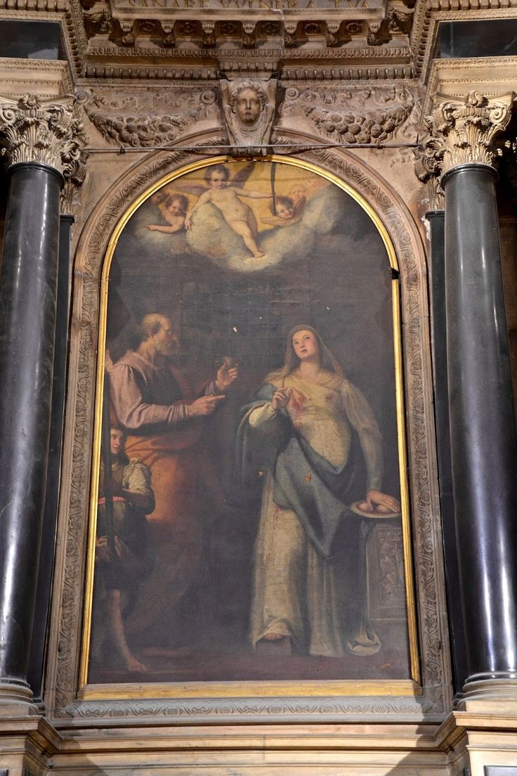 One of the Duomo's paintings, Milan, Italy by The Art of Creativity Studio