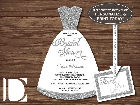 198 best Wedding and Bridal Showers images on Pinterest Wedding - bridal shower invitation templates for word