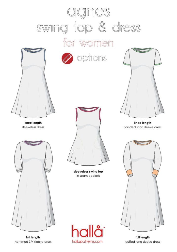 cb836b6f14410 hallå agnes swing top  amp  dress Please join our Hallå Patterns Group on  Facebook for a coupon code to get this pattern for free. THIS SEWING PATTERN   amp  ...
