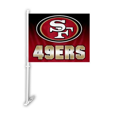San Francisco 49ers Ombre Car Flag