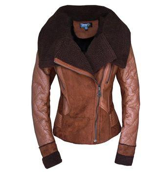 W ZXS venda quente 2014 das melhores mulheres inverno nova moda um casaco de pele Turn Down Collar feminino carneiro lã One casacos WZ02