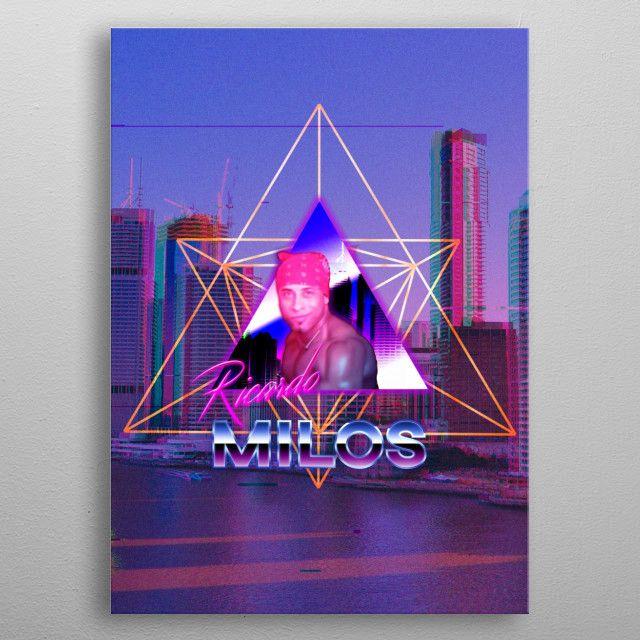 Ricardo Milos Aesthetic 2 Metal Poster Print John Kenneth Cunanan Displate Metal Posters Poster Prints Cool Artwork