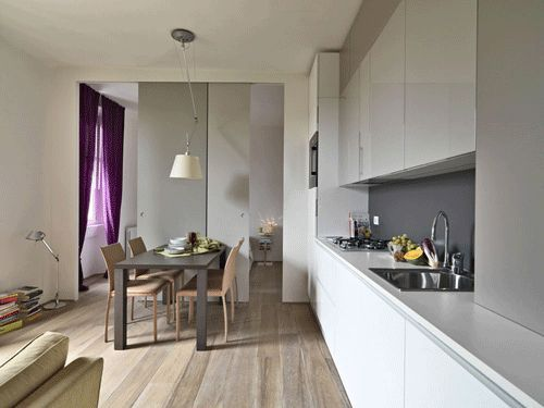 Casa piccola 35 mq con ambienti trasformabili e 6 comode