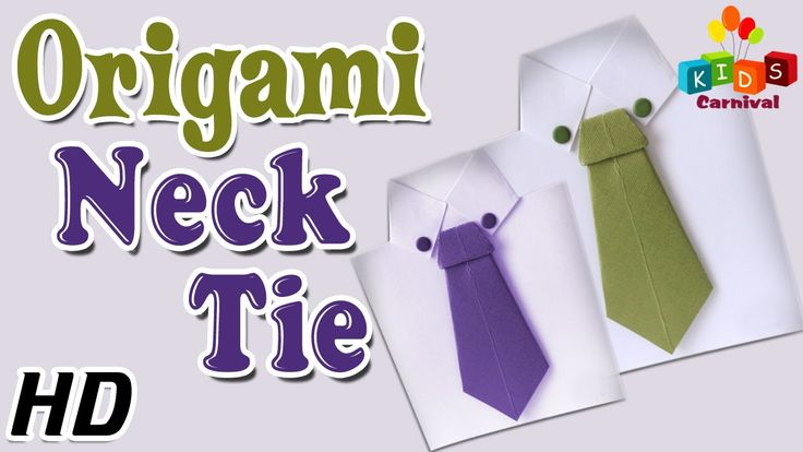 Origami - How To Make NECK TIE - Simple Tutorials In English
