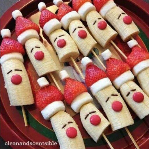 Fruit kerstman