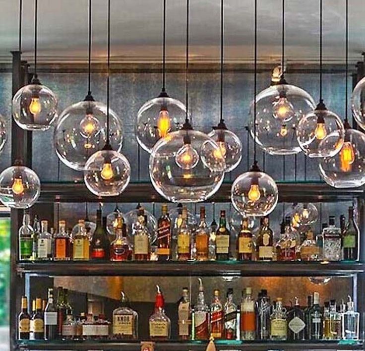 Retro Industrial Globe Loft Cafe Glass Ceiling Pendant Light Lamp Shade LED Bulb in Home, Furniture & DIY, Lighting, Ceiling Lights & Chandeliers | eBay