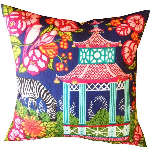 Chinoiserie Garden Pink Pillow Cover Mari Robeson Home