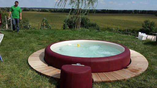 22 best garten images on Pinterest Decks, Backyard patio and Hot - reihenhausgarten und pool