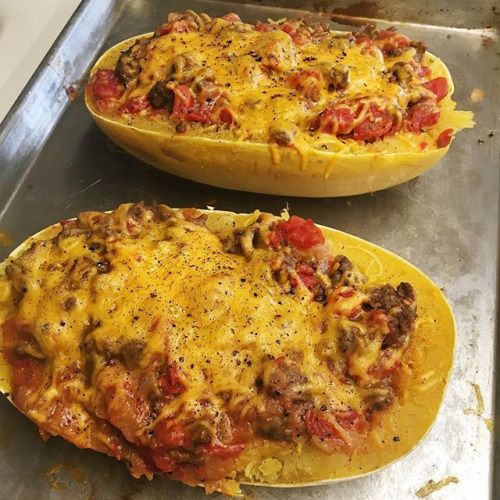 Todays creation: low carb turkey stuffed spaghetti squash  Calories from carbs (12%) protein (20%) fat (68%)  Cant tell y'all enough how much I love KETO!    #bbg #fitness #bbgcommunity #fitfam #bbgsisters #bikinibodyguide #cleaneating #motivation #bbgfam #health #bbggirl #cardio #healthylifestyle #instafit #progress #healthyliving #lowcarb #ketodietchallenge #ketogenic #keto - Inspirational and Motivational Ketogenic Diet Pins - Eat Keto Get Into Nutritional Ketosis - Discover LCHF to…