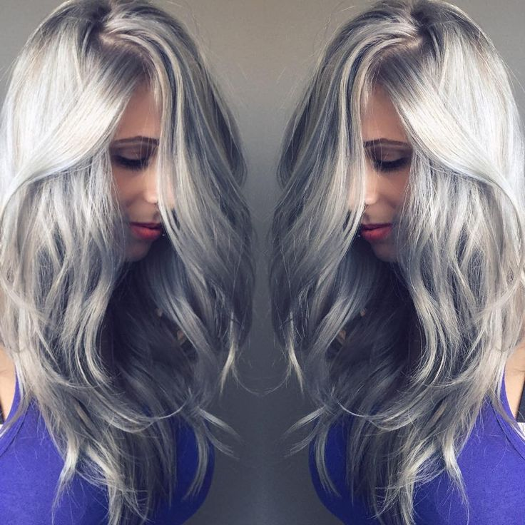 Silver hair - maintain cool ashy blonde colours like this with toning or a blonde shampoo...