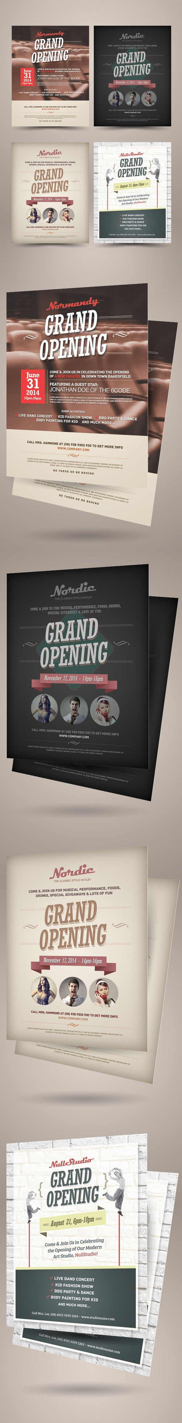 Grand Opening Flyers Vol.01 on Behance