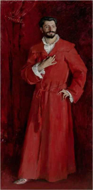 Dr. Pozzi at Home, 1881, John Singer Sargent via Portraits of 19th Century America, East and West, at the Met     Observer