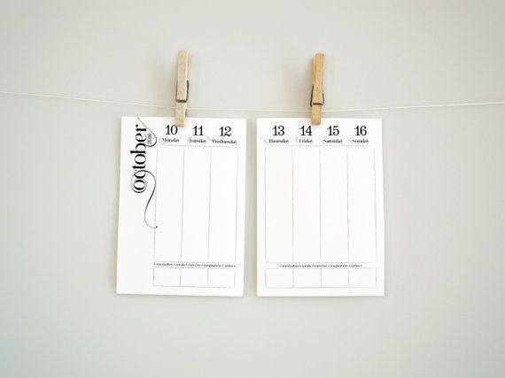 Weekly 2017 Printable planner pages - A4