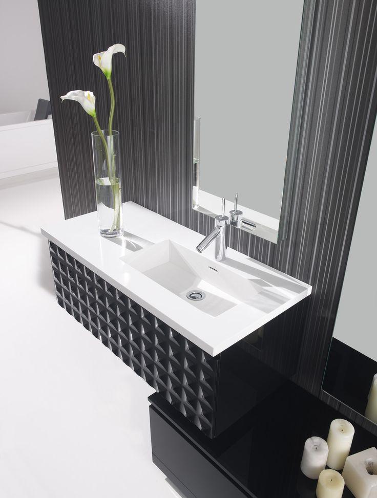 Meuble de salle de bain à suspendre #meuble Les meubles - salle de bain meuble noir