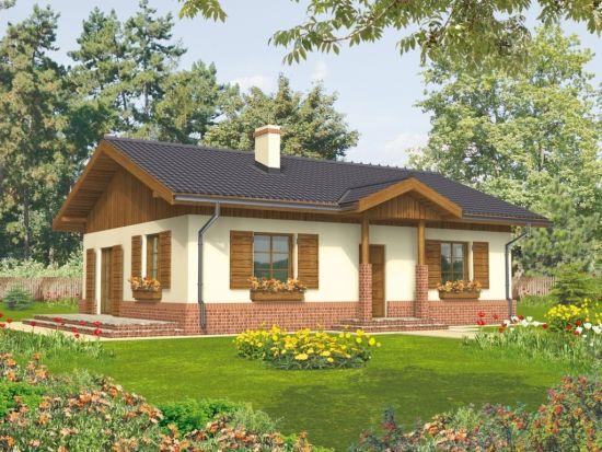 Proiecte de case fara etaj cu 2 dormitoare - 3 locuinte practice si economice / Casa mica cu parter si obloane exterioare din lemn sursa: http://www.renovat.ro