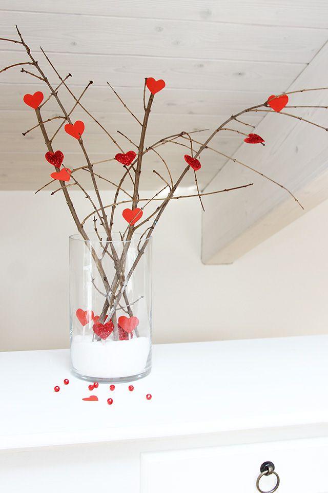 Rami secchi decorativi per San Valentino