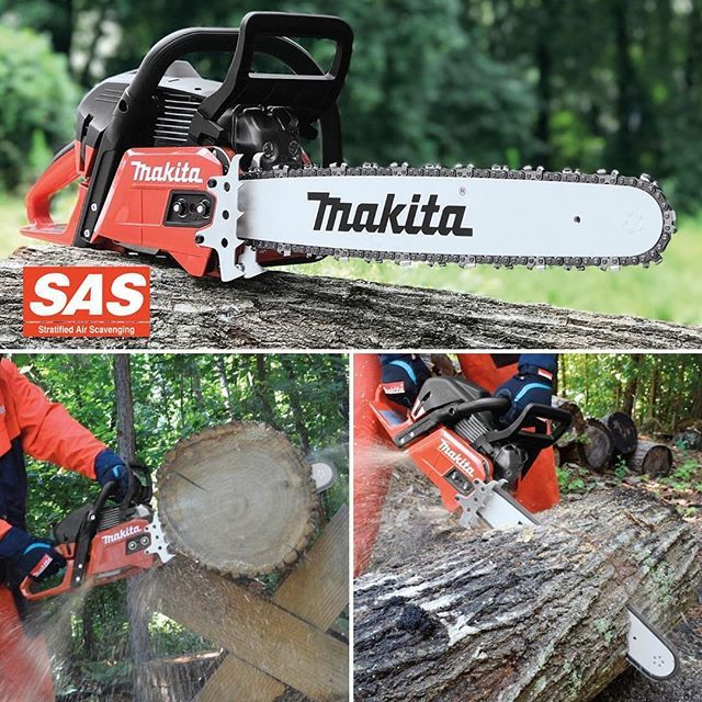 The EA5600FREE is the ultimate chainsaw in versatility. It's 55.7 cc engine can handle the toughest of jobs, while still being lightweight enough for smaller work. With the Easy Start spring-assisted recoil starter and excellent air filtration system, this chainsaw is easy to use and maintain. The Stratified Air Scavenging (SAS) 2-stroke engine allows for lower fuel consumption and reduced noxious exhaust emissions.  #MakitaCanada #MakitaSolutions #EA5600FREE #MakitaOPE #MakitaChainsaw #SAS