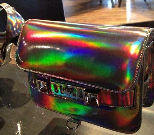 : Proenza Schouler, Fashion, Style, Resorts, Proenzaschouler, Schouler Resort, Holographic Ps11, Bags