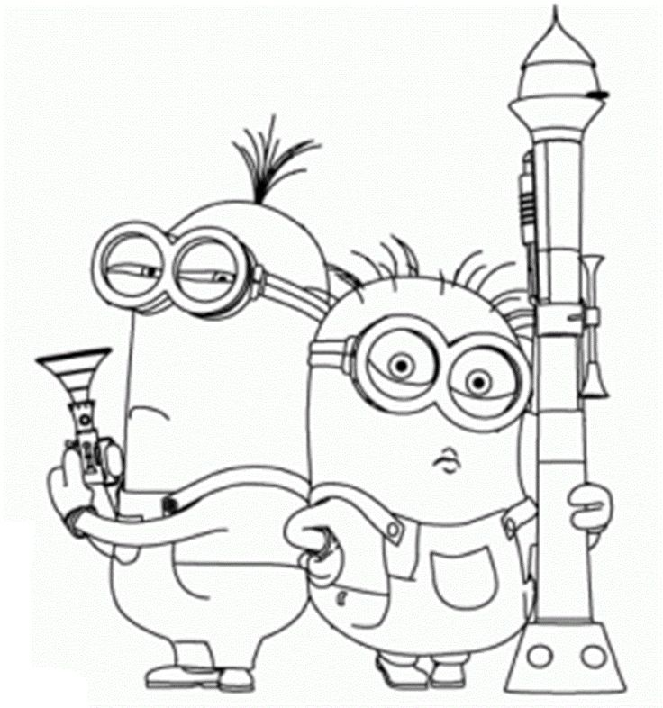 23 best Little Minions images on Pinterest Adult coloring