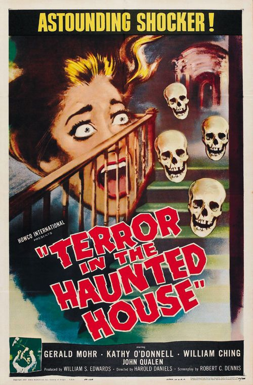 Cult Horror movie poster print 1958 My World Dies Screaming