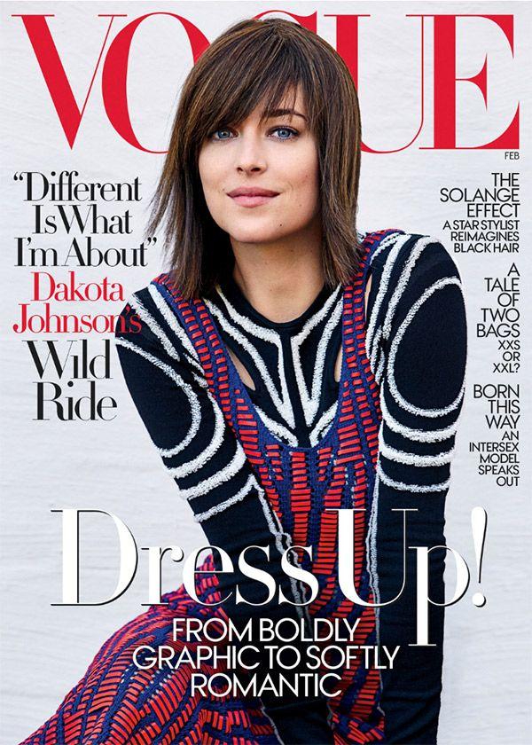 Dakota Johnson Reveals Short Lob Haircut & Bangs On 'Vogue' — See Her HairMakeover